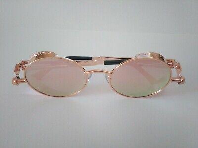 Sonnenbrille Brille Retrobrille runde Gläser Steampunk verschiedene Farben