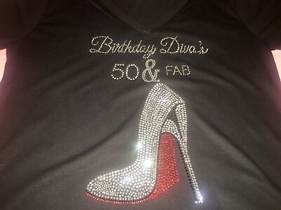 Birthday Diva's 50 and Fabulous shirt 50th fifty women's bday t-shirt girls tee