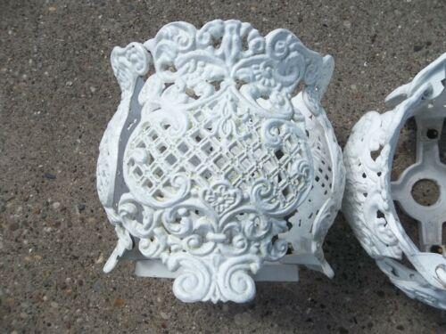 Vintage Victorian White Cast Aluminum Flower Pot Plant Holder  - 2 AVAILABLE