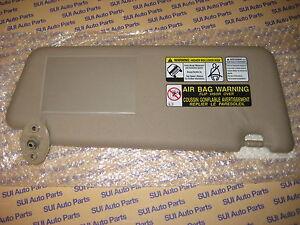 Toyota Tacoma Drivers Side LH Sun Visor Tan Vinyl NEW Genuine OEM 2005-2014 bc6dc69a067