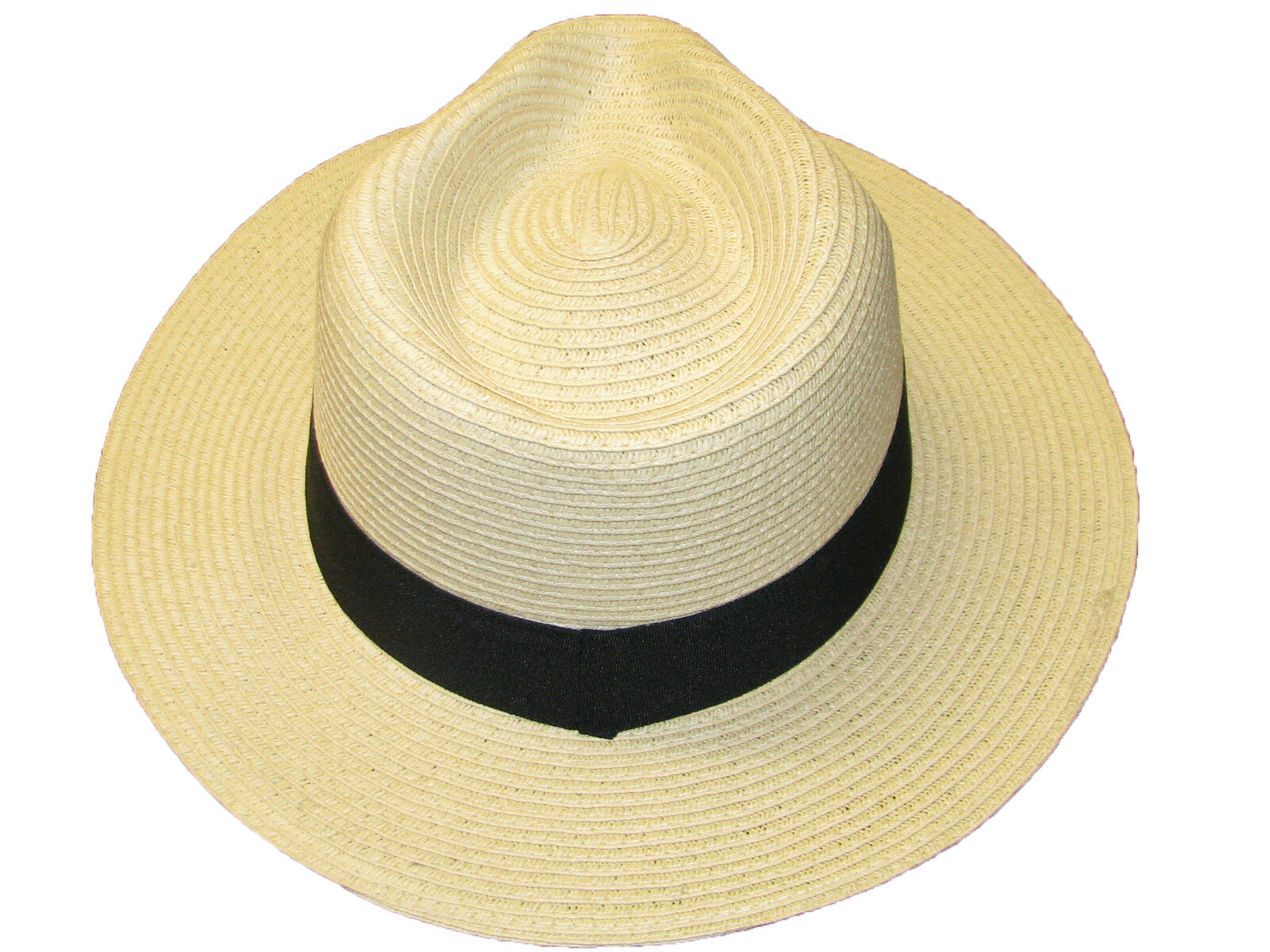 0484be22403 Details about Mens Ladies Straw Fedora Panama Style Sun Hat Crushable  Summer Hat 3 Sizes