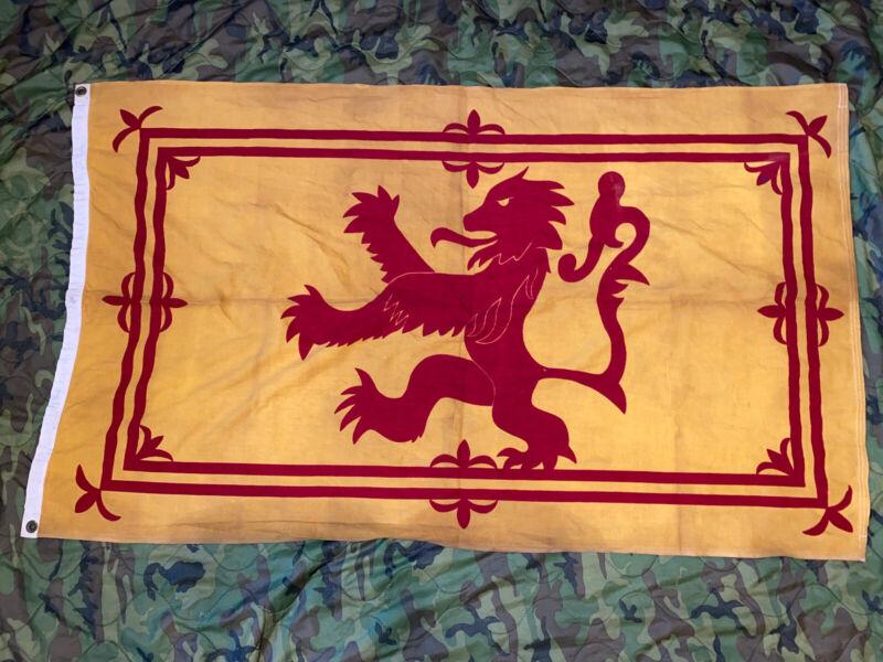 Vintage Royal Banner of Scotland Flag 3x5 Ft 100% Cotton Ajax Paramount - 1950s
