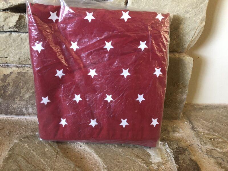 """Rare New Pottery Barn Kids Organic Star Toddler Duvet Cover Red 36x50"""""""