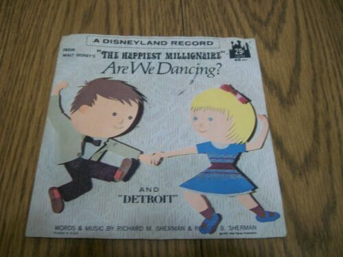 DISNEYLAND RECORD THE HAPPIEST MILLIONAIRE ARE WE DANCING RARE 45 RPM 1967