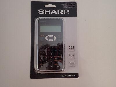 Brand New Sharp Scientific Calculator EL-531XHB-WH 272 functions