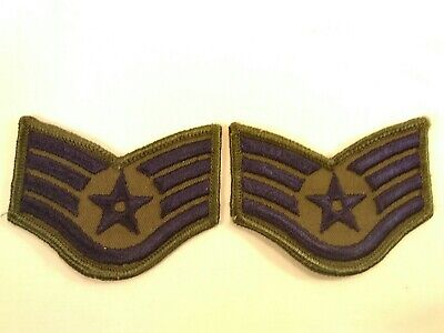 VINTAGE U.S AIR FORCE STAFF SERGEANT RANK INSIGNIA STRIPE PATCHES Z1