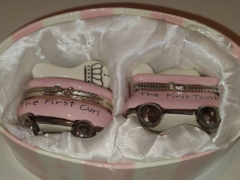 Mud Pie Princess First Curl & First Tooth Holder Ceramic Set for Girl