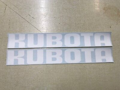 Kubota Backhoe Decals