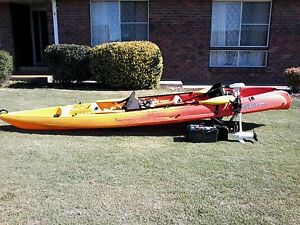 viking tempo double fishing kayak with electric outboard motor Ulverstone Central Coast Preview