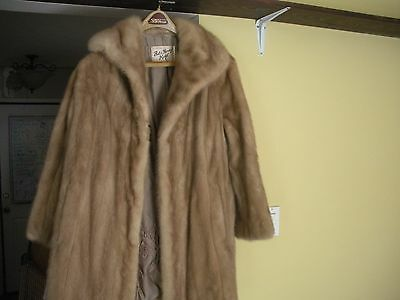 Vintage Bob and Harvey Kagel Mink Fur Coat lady size 14