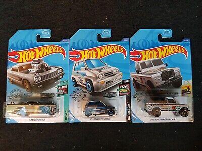 2020 Hot Wheels Honda City Turbo II, Impala, Land Rover ZAMAC #1, 2 & 3