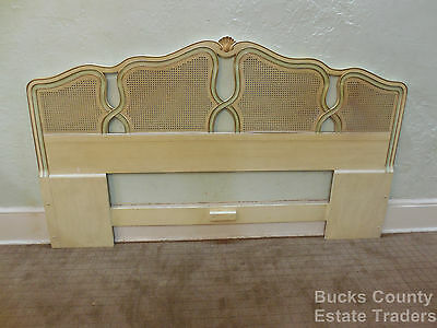 Vintage French Louis XV Style Painted King Size Bed Headboard