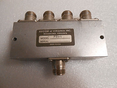 Avcom Of Virginia Dcp-4 Power Splittrer Combiner Vsat Satellite