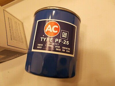 1983 1984 Chevy 350 Camaro Caprice PF-25 NOS AC GM Oil Filter NEVER INSTALLED