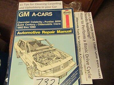 Haynes Repair Manual 766 GM J-CARS CHEVY CAVALIER  SUNBIRD SKYHAWK 1982-1989