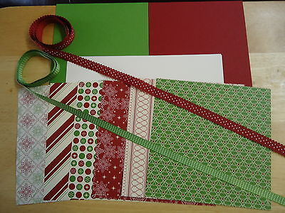 Stampin Up BE OF GOOD CHEER 6 x 6 CHRISTMAS Designer Paper Card Kit Ribbon ()