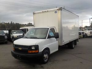 2014 Chevrolet Express G3500 16 Foot Dually Cube Van with Ramp