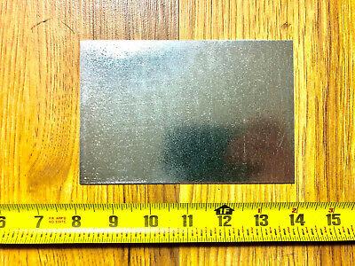18 Gauge Galvanized Steel Sheet Metal Scrap 6 Pieces 6 X 4