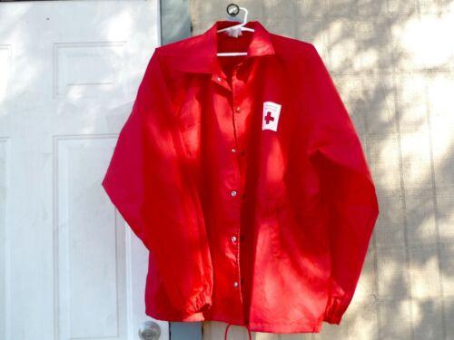 RARE! American Red Cross Windbreaker Jacket Emergency Rescue Disaster Service XL
