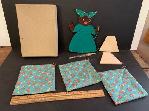 Black Americana Note Board & Hot Pads, Original Box