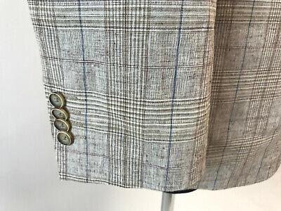 Joseph Abboud Men's LINEN Blend Multi Checked Blazer Jacket Size EU52 UK42L