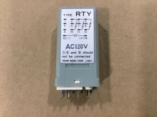 Idec RTY Time Delay Relay 120V AC 0-10 Seconds #15E30AM