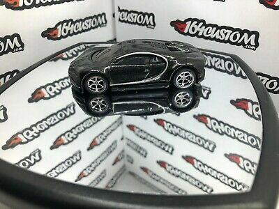 Hot Wheels '15 Bugatti Chiron - BLACK - SUPER custom six spoke rims rubber tires