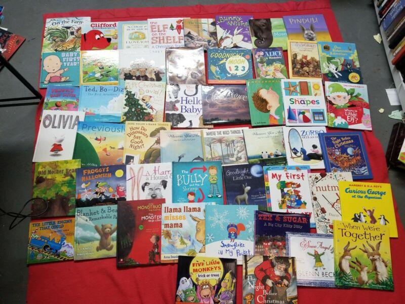 Lot of 30 ALL HARDCOVER Children Reading Books Bedtime-Story Time Kid MIX RANDOM