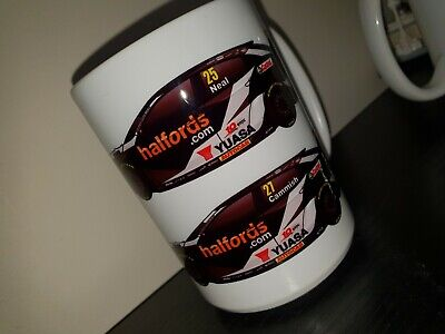 Halfords Yuasa Honda 2020 BTCC 15oz Mug Civic Type-R Matt Neal Dan Cammish