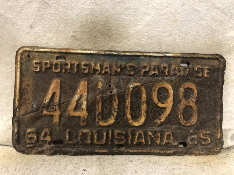 Vintage 1965 Louisiana License Plate