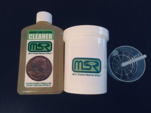 8 oz. Mint State Restoration w BASKET > Coin & Artifact Ancient Bronze Cleaner
