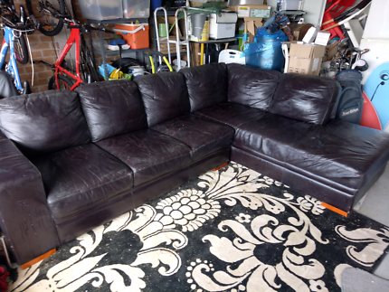 Leather Lounge and chaise
