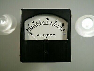 Vintage Weston Ac Amp Meter Model 744 New Old Stock