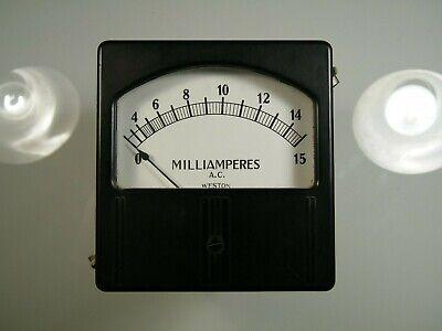 Vintage Weston Ac Amp Meter Model 744 New Old Stock