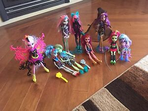 Monster High Dolls, shopkins and Barbie