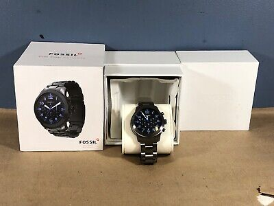 Fossil Q54 Pilot, Hybrid Smart watch Stainless Steel Blue