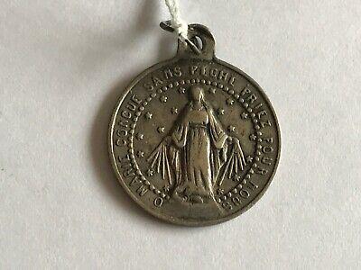 Pendant Medal Religious Virgin Marie Solid Silver REF52025