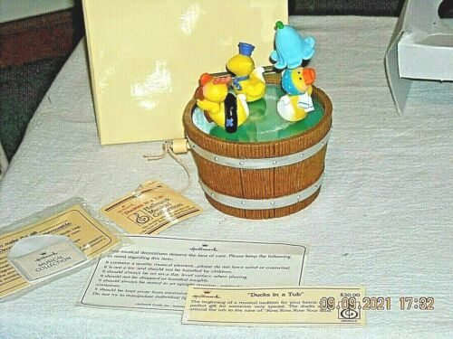Hallmark Musical Collection Duckies In A Tub 1982 Music Box Row Row Your Boat