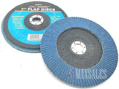 Qty-2 Premium Zirconia Flap Disc 7 X 78 Arbor 60 Grit 8500 Rpm Max