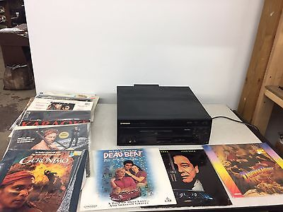 Pioneer CLD D503 Laser Disc Player Cd DVD Player with Lots of Movies
