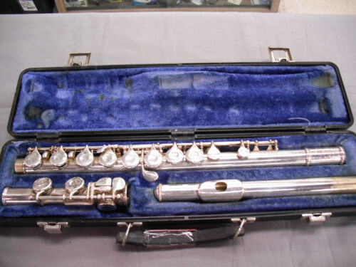 VINTAGE SELMER BUNDY II 2 FLUTE S/N 647677 Student Silver Plated Band School