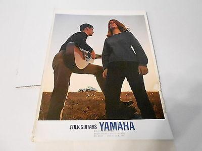 VINTAGE MUSICAL INSTRUMENT CATALOG #10156 - 1960s YAMAHA - FOLK GUITARS