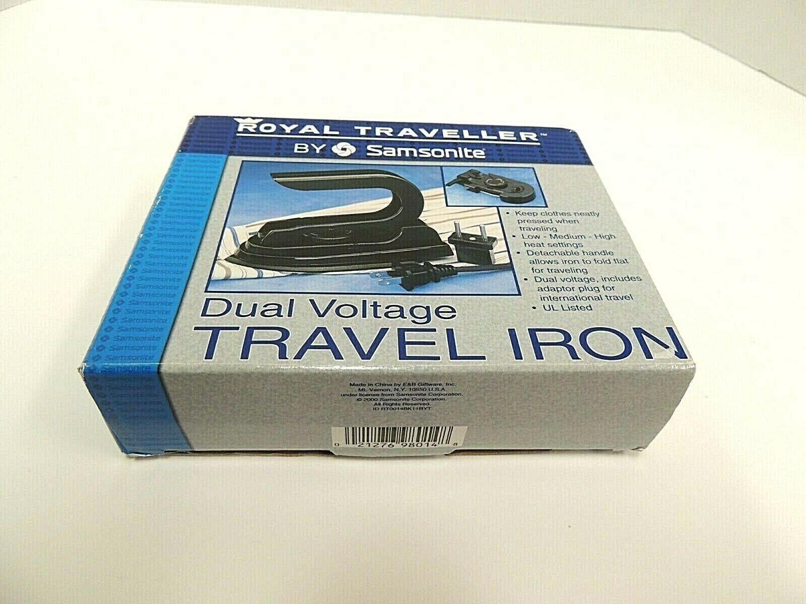 Travel Iron Royal Traveller By Samsonite Dual Voltage Brand New RT0014BK - $21.95