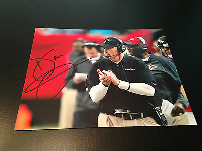 Dan Quinn Autograph  8 X 10 Photo Atlanta Falcons