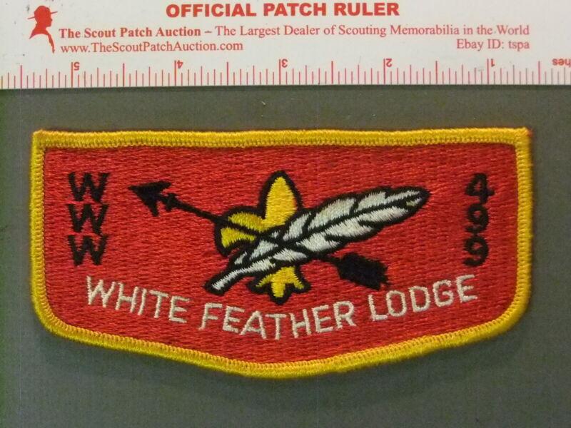 Boy Scout OA 499 White Feather flap 7249JJ