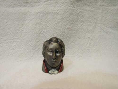 PEWTER DAVID COPPERFIELD COLLECTIBLE THIMBLE EXQUISITE CREATIONS BUST HEAD