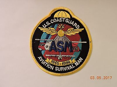 US Coast Guard ASM Aviation Survival Man 1965-1998 USCG Military Patch #100