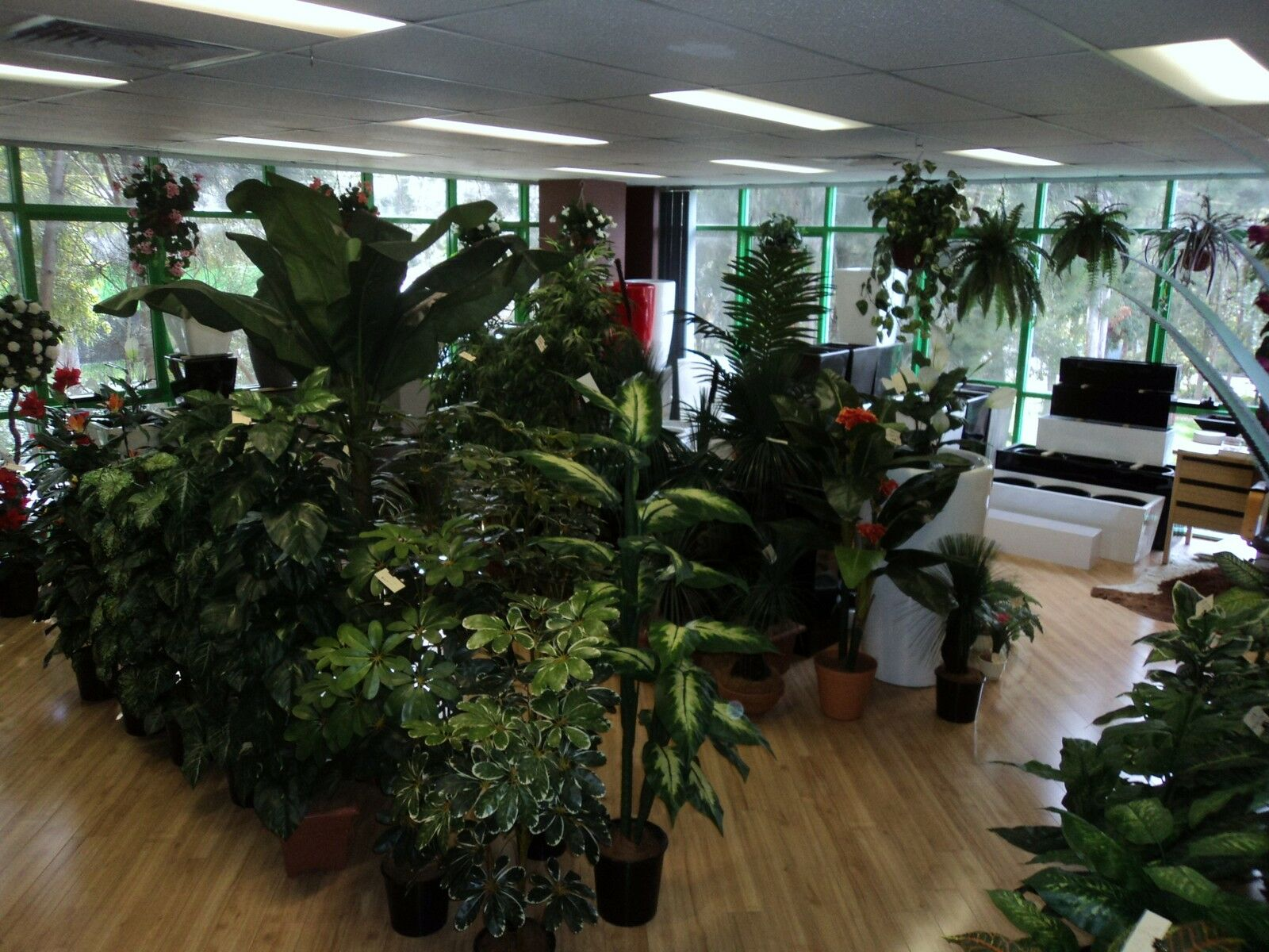 ARTIFICIAL PLANTS, FIBREGLASS POTS