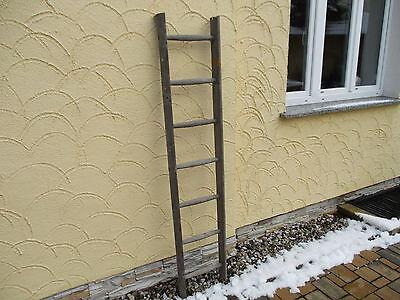 alte Holzleiter(88) Deco Blumenampel Baumleiter Handtuchhalter Kleiderhalter