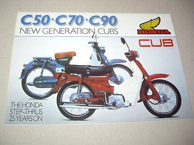 Honda C50/70/90 Cub range sales brochure